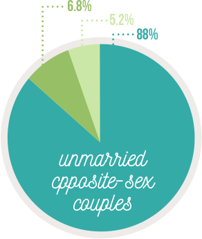 increase same sex households in us